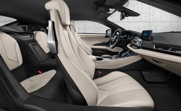 Interior of 2017 BMW i8