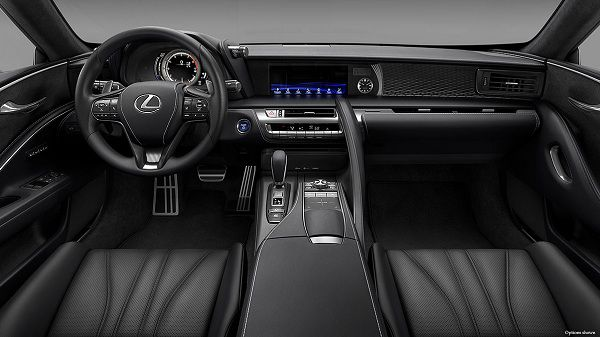 Interior of 2018 Lexus LC 500h