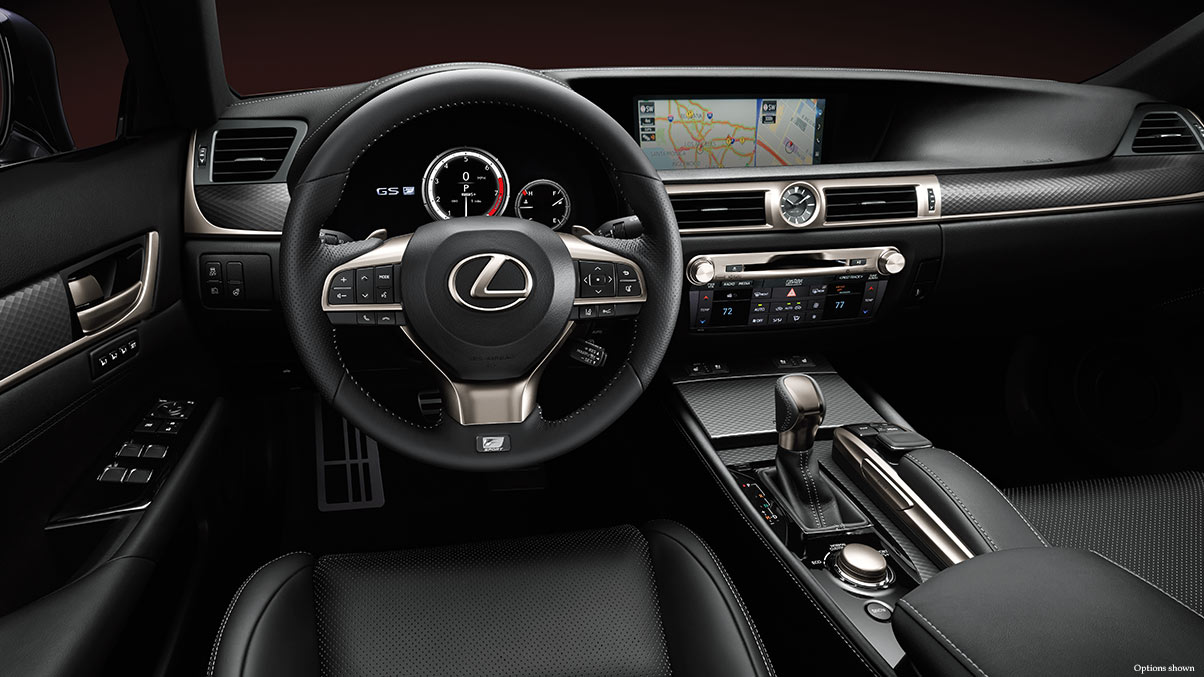 Interior of the 2018 Lexus GS 450h F Sport