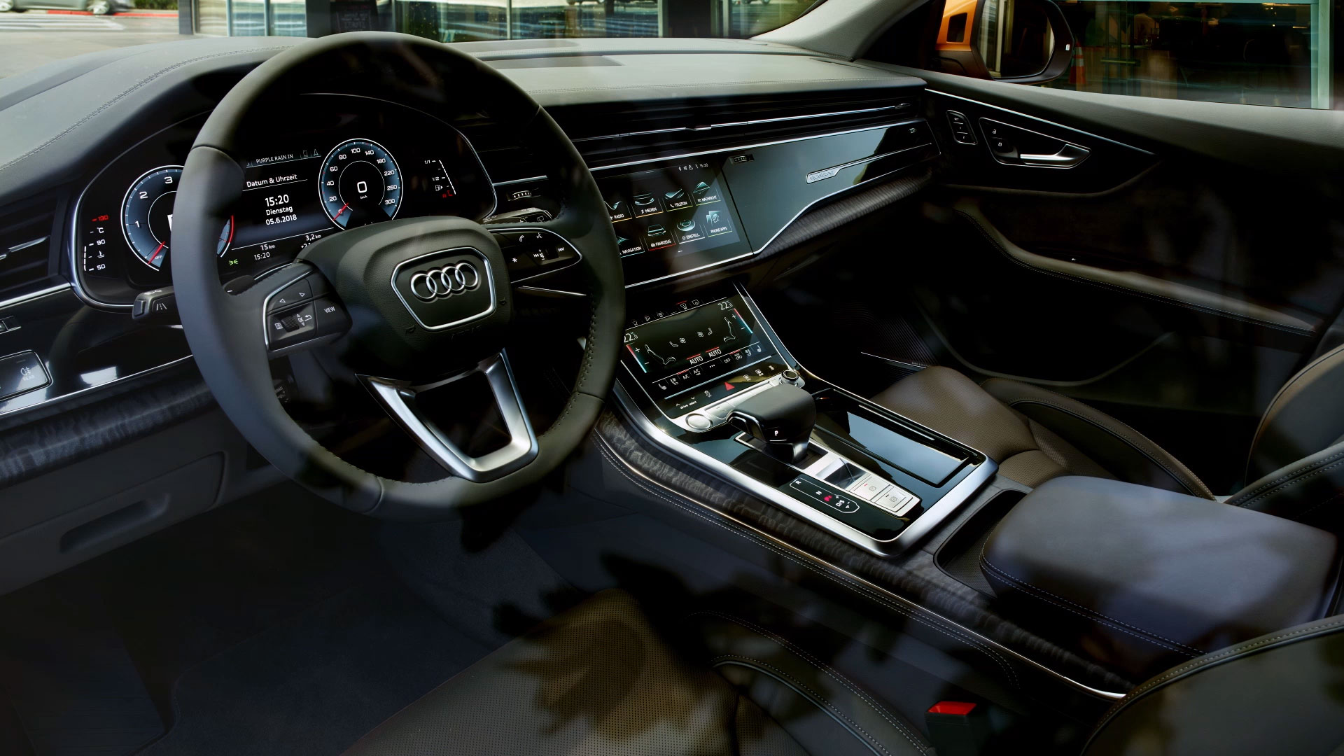 Interior of the 2019 Audi Q8
