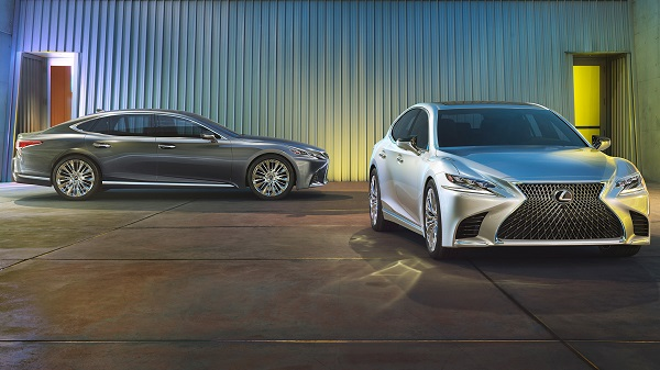 Exterior of the 2020 Lexus LS500h
