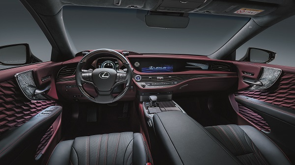 Interior of 2020 Lexus LS500h