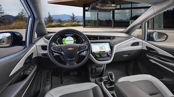 Interior of 2020 Chevrolet Bolt EV